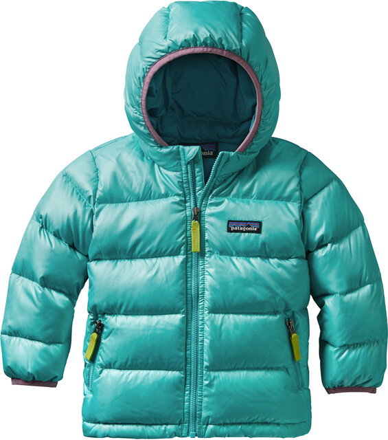 Patagonia Baby Hi-Loft Down Sweater Hoody Strait Blå